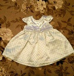 Rochie de satin (3-5 luni)