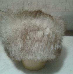 Şapka kürk tilki