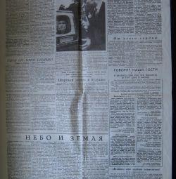 Newspaper sheet
