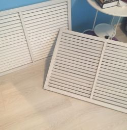 Plastic grill for heating batteries white