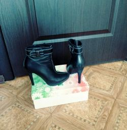 Bu natur ankle boots sonbahar bahar