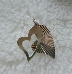 Pendant silver Heart