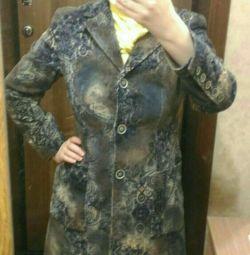 Пальто вельветовое