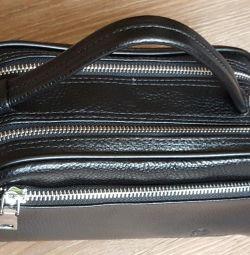 Ανδρικό συμπλέκτη, δερμάτινη τσάντα