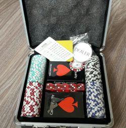 Poker set of 100 chips with par