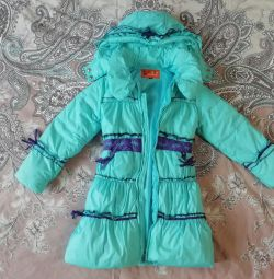 Autumn-spring children's raincoat for girls, r. 134