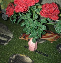 Подарунок Троянди з бісеру