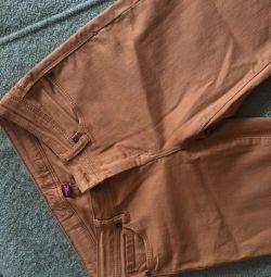 Women's pants mustard color