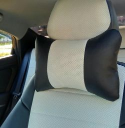 Pillows under the neck in the car