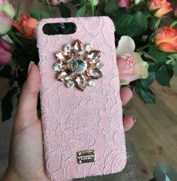 Dolce & Gabbana iPhone 6+ hisse senedi (kırmızı)