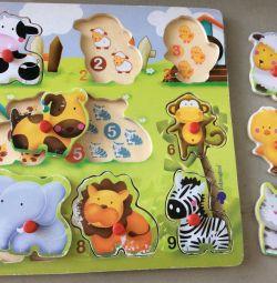 Jucării: puzzle-uri educative