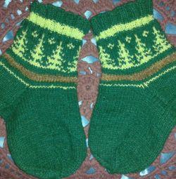 knitted wool socks