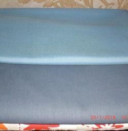 Два отреза ткани (сорочечная и бязь)