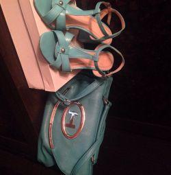 Sandale și geantă - ambreiaj