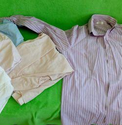 6 πουκάμισα L, XL
