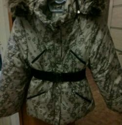 Winter jacket, for girls, height 128