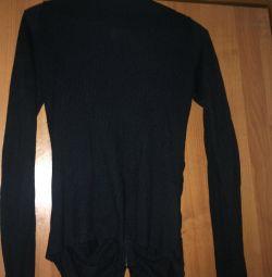 Bluză tricotată cu fermoar