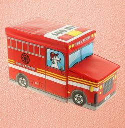 Toy storage box Bus, 2 compartments