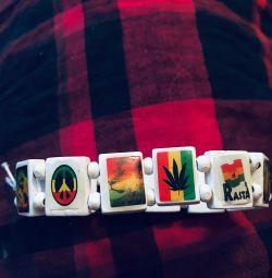 Bracelet. Rasta. Bob Marley. Freedom.