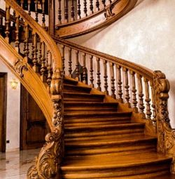 Stairs made of solid wood / oak / Ash / larch