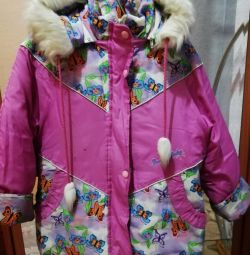 Winter down jackets, for 5-7 years