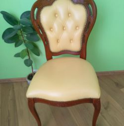 Chic chair, armchair Italy leather, solid
