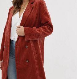 Новое вельветовое пальто ASOS