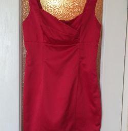Платье атласное 46р
