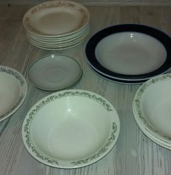 Plates and saucers from the USSR