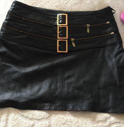 Skirt, leather