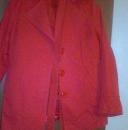 Πλεκτά παλτό και πουκάμισο