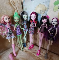 6 dolls monster high. Original.