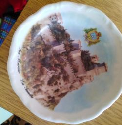 Souvenir plate from Italy on the wall
