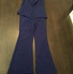 Костюм Жилетка + брюки кльоші
