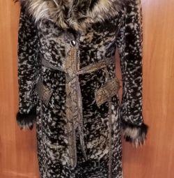 Muton γούνα παλτό