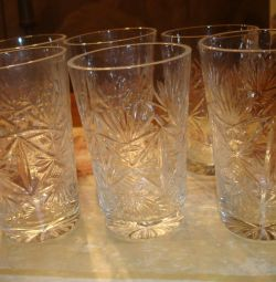 Glasses made of crystal (6 pcs)