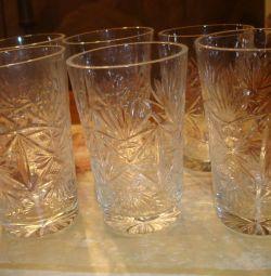 Γυαλιά από κρύσταλλο (6 τεμ)