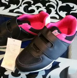 New sneakers for girls, 33 size