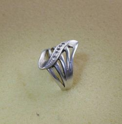 Silver ring with test inserts 925