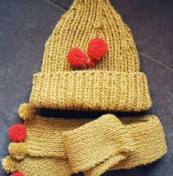 Шапочка + шарф