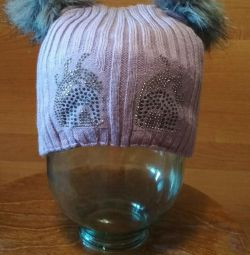 Winter hat for girls. Size 50-52
