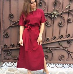 Нове вбрання максі колір марсала