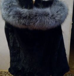 Γούνα Μπουφάν. Avtoledi. Ασημένια αλεπού. Μινκ.