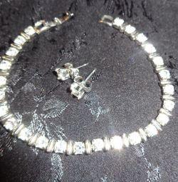 Brățară + cercei, bijuterie.