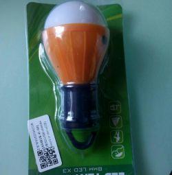 Light bulb on batteries
