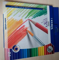 Watercolor pencils 24 colors Lyra