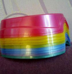 New pet bowls