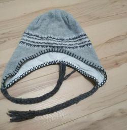 Зимняя шапка на хб подкладке