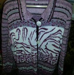 Πλεκτό γυναικείο παλτό (ζεστό σακάκι)