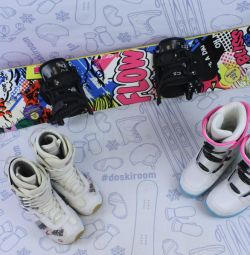 Сноуборд Flow Bliss 135 см + крепления + ботинки